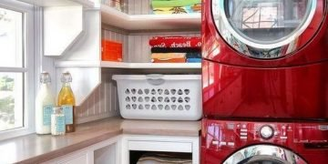 laundry room ideas washer dryer stacked