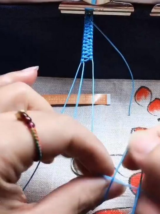 braided bracelet blue