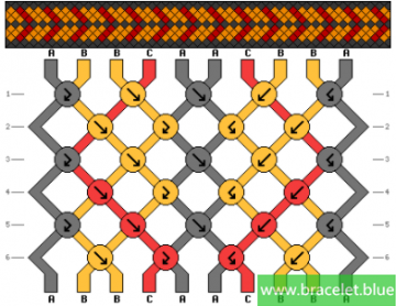 bordered dots bracelet patterns easy simple