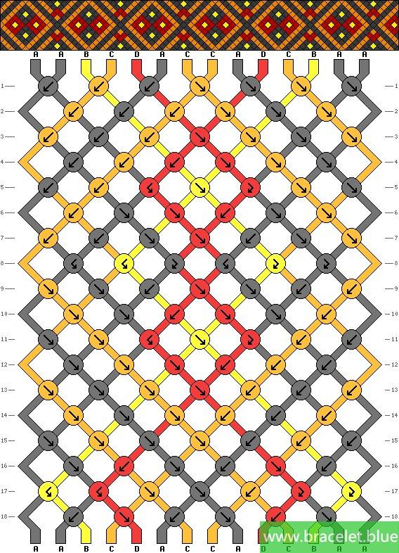 cross bracelet patterns step by step