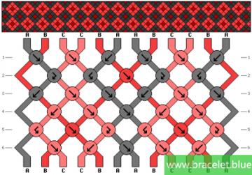 double diamond bracelet patterns easy 3 colors
