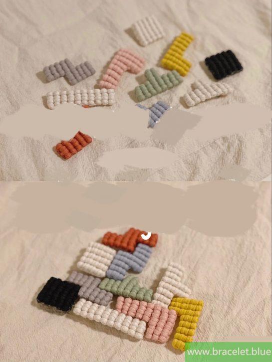 tutorial macrame safety pin brooch
